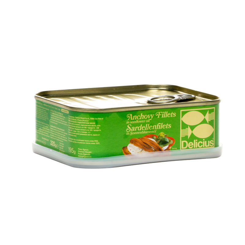 DELICIUS ANCHOVY FILLETS - TIN