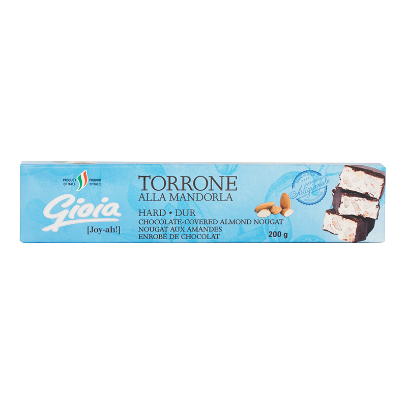 Torrone - Chocolate Covered Almond Nougat