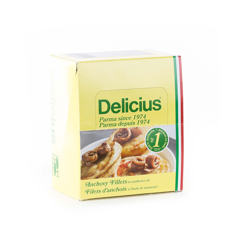 DELICIUS ANCHOVY FILLETS IN SUNFLOWER OIL